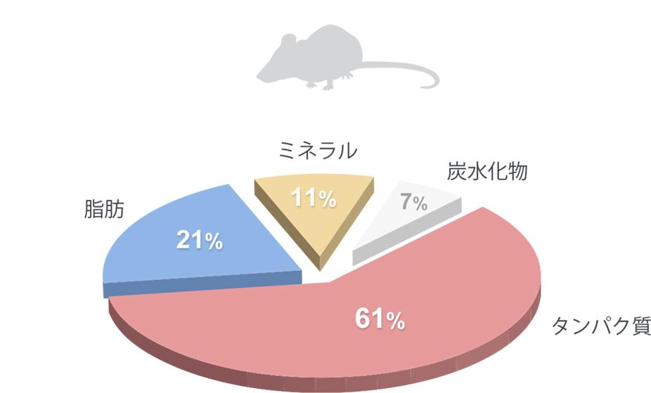 マウスの栄養組成(水分なし)